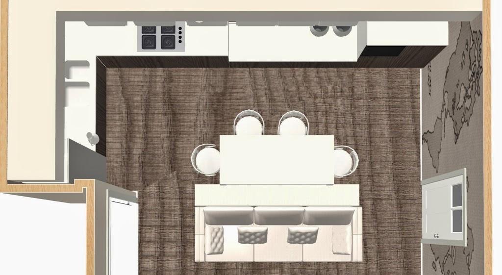 Cucina soggiorno lineatre kucita gli esperti dell for Divano a isola