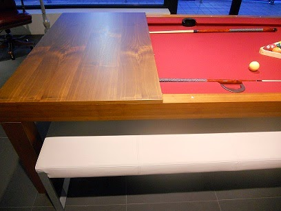 Un tavolo da pranzo anzi da biliardo lineatre - Tavolo da biliardo trasformabile ...