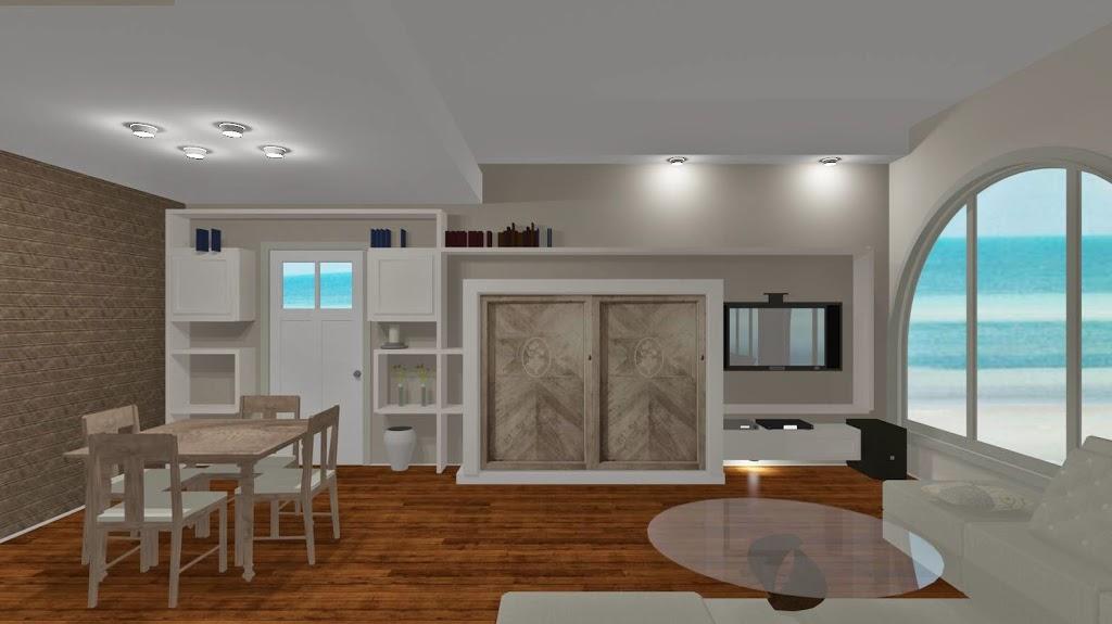 Un ufficio nascosto nel soggiorno lineatre arredamenti for Idee per arredare un ufficio