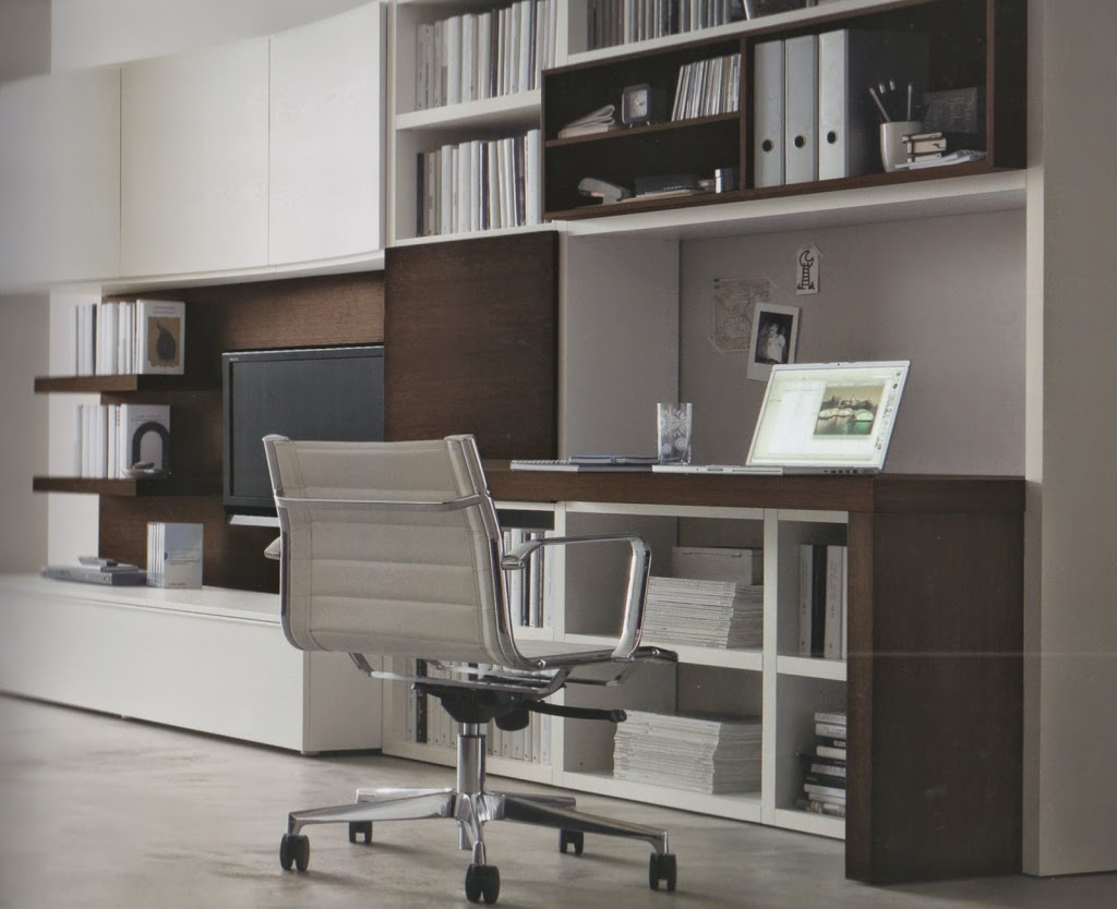 Uno studio a vista nel soggiorno lineatre arredamenti for Poco costoso per costruire piani di casa