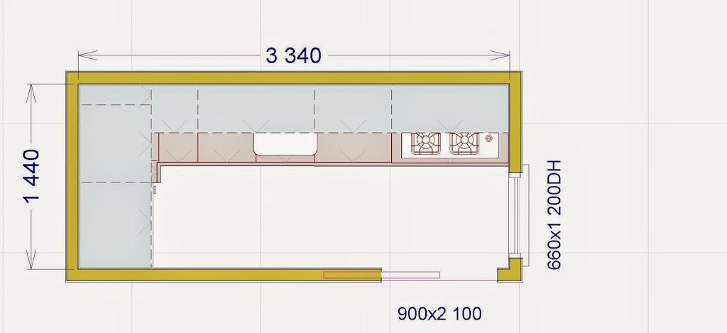 Come arredare il cucinino lineatre arredamenti - Cucina 3 metri angolare ...