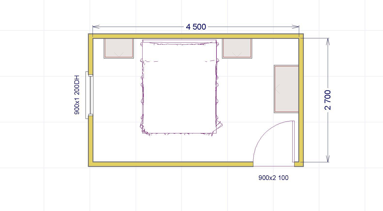 Come progettare la tua camera matrimoniale 2 una stanza for Letto matrimoniale dimensioni ridotte