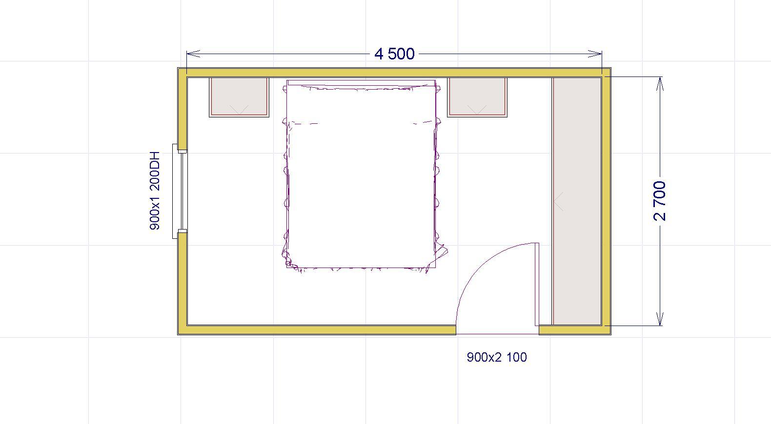 Come progettare la tua camera matrimoniale 2 una stanza for Progettare una stanza