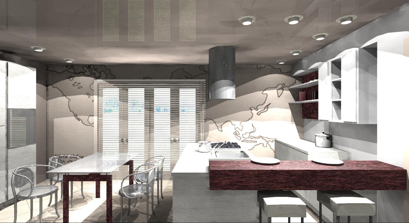 Isola cucina con tavolo gallery of cucina con isola cucina in stile in stile moderno di nadia - Cucina open space con isola ...