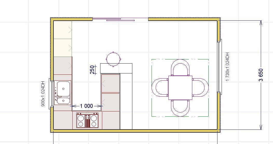 Una penisola in cucina lineatre kucita gli esperti dell 39 arredamento - Dimensioni minime cucina bar ...