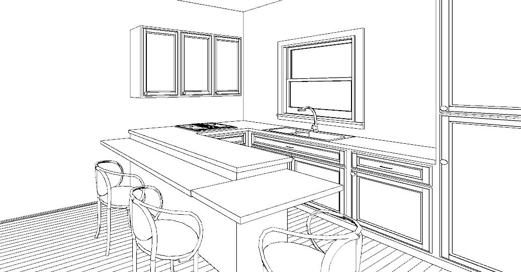 Una penisola in cucina lineatre arredamenti alberobello - Altezza tavolo da pranzo ...