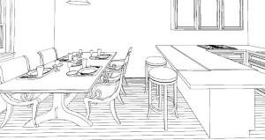 sgabelli e sedie penisola