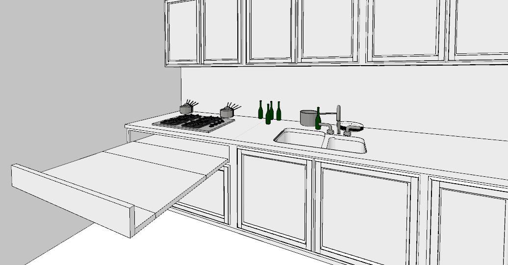 6 regole per una cucina perfetta lineatre arredamenti alberobello - Cucina tavolo estraibile ...