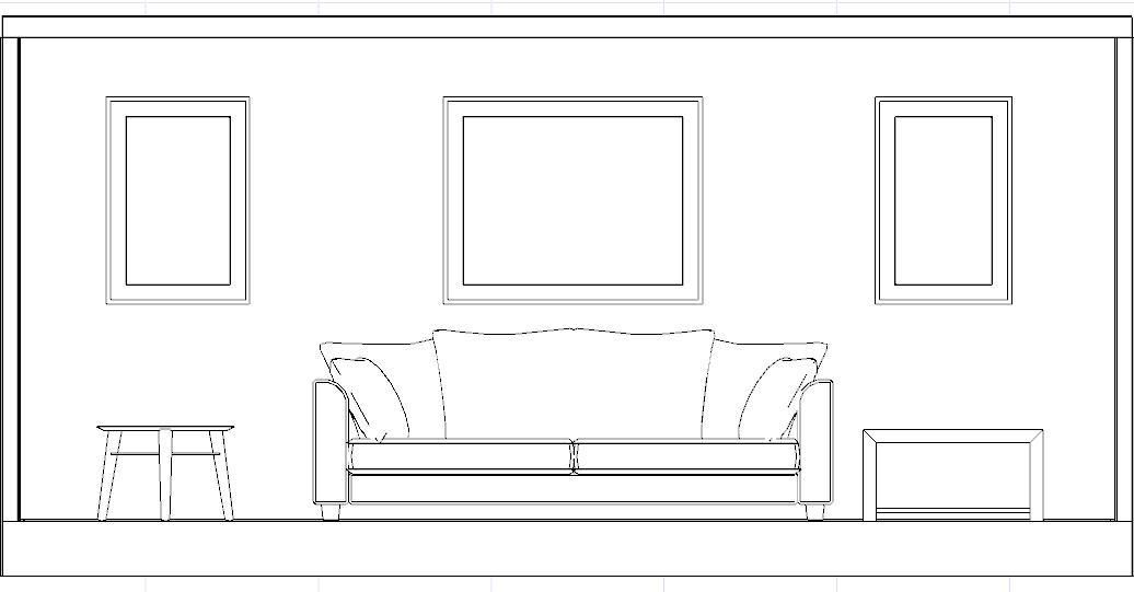 Disegnare una stanza in prospettiva con mobili for Designer di mobili per la stanza