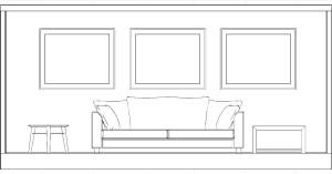 quadri su divano