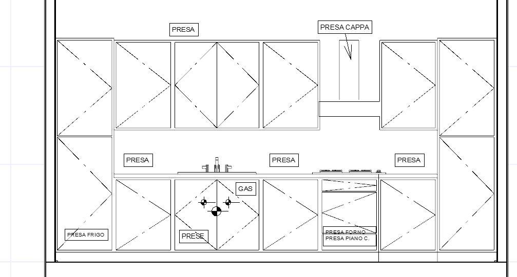 Come predisporre gli impianti in cucina for Piani casa sul tetto di bassa altezza