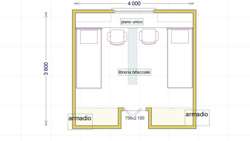 Una cameretta per due con diritto di privacy lineatre - Divisione camera da letto ...