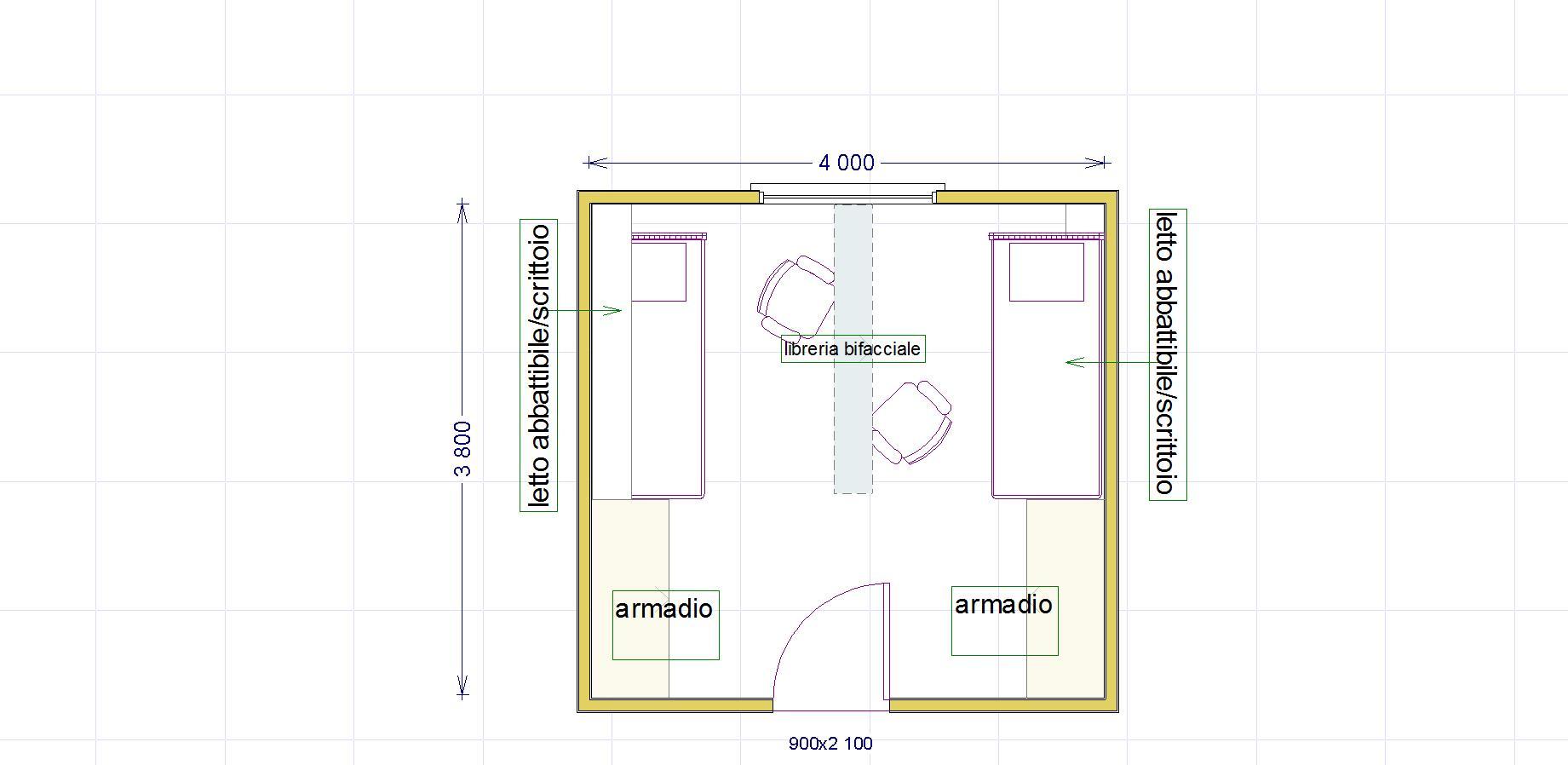 Cameretta per due archivi lineatre arredamenti alberobello - Dividere una camera in due ...