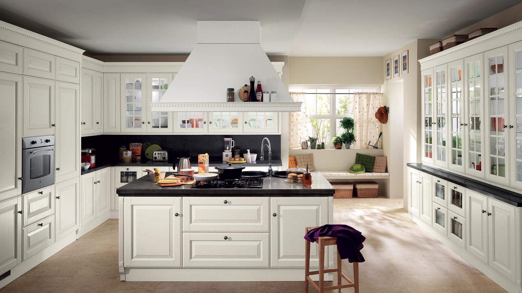 La cucina componibile bianca