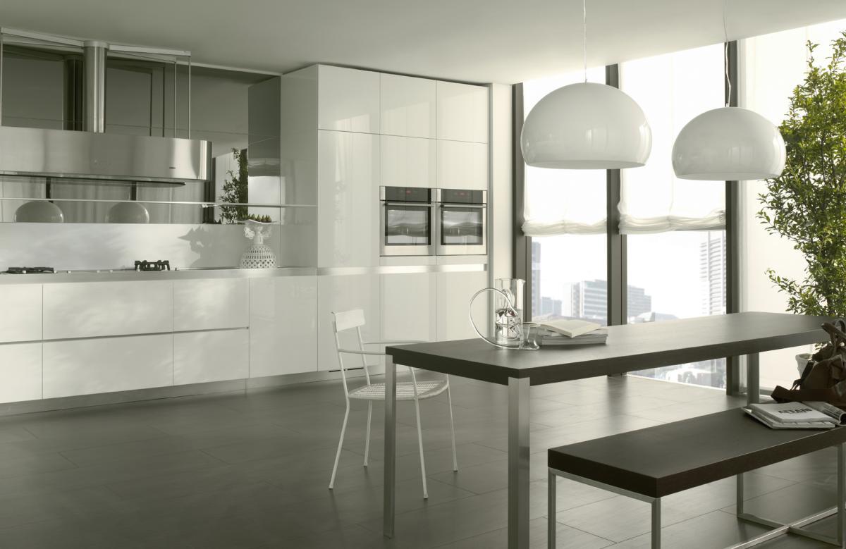 Arredare Male O Bene: La Cucina Componibile Bianca #8B913A 1200 779 Arredare Mensole Cucina Moderna