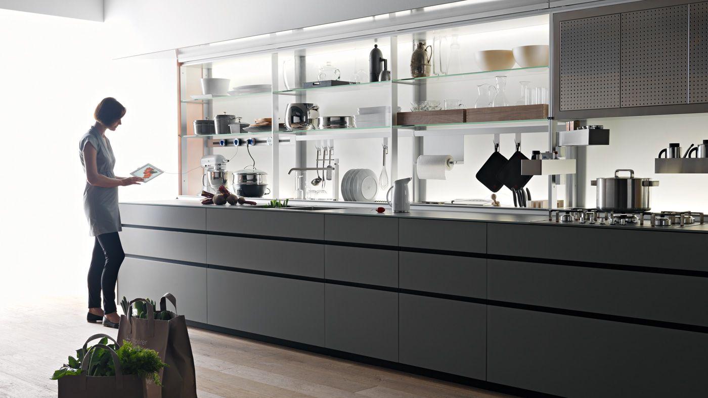 Quale top in cucina il piano in vetro lineatre - Top cucina in vetro ...