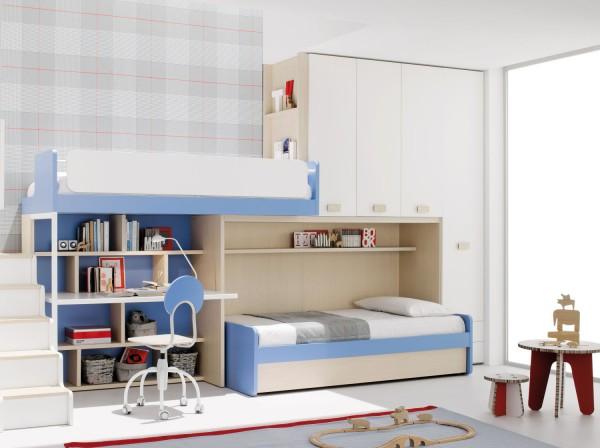 Camerette attrezzate la camera per ragazzi capitolo 5 lineatre kucita gli esperti dell - Cameretta letto soppalco ...