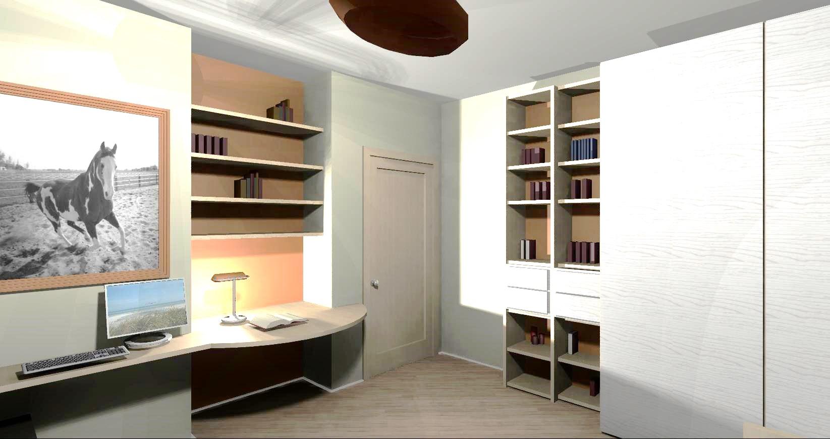La zona studio nella cameretta for Arredare camera da letto ragazzo