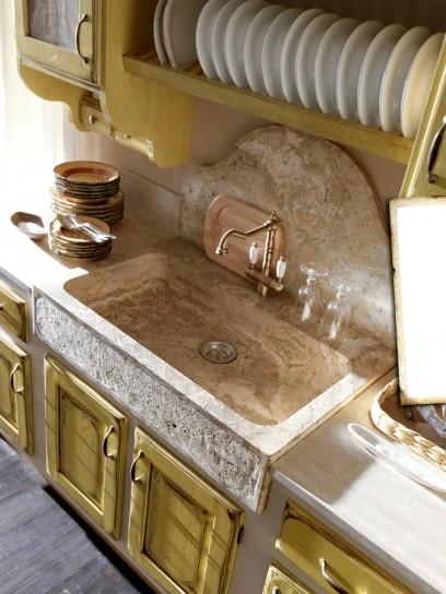 Il lavello in cucina - Lavello cucina resina ...