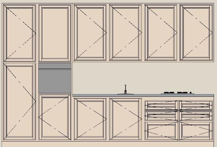 Lineatre arredamenti cucina cm 360 3