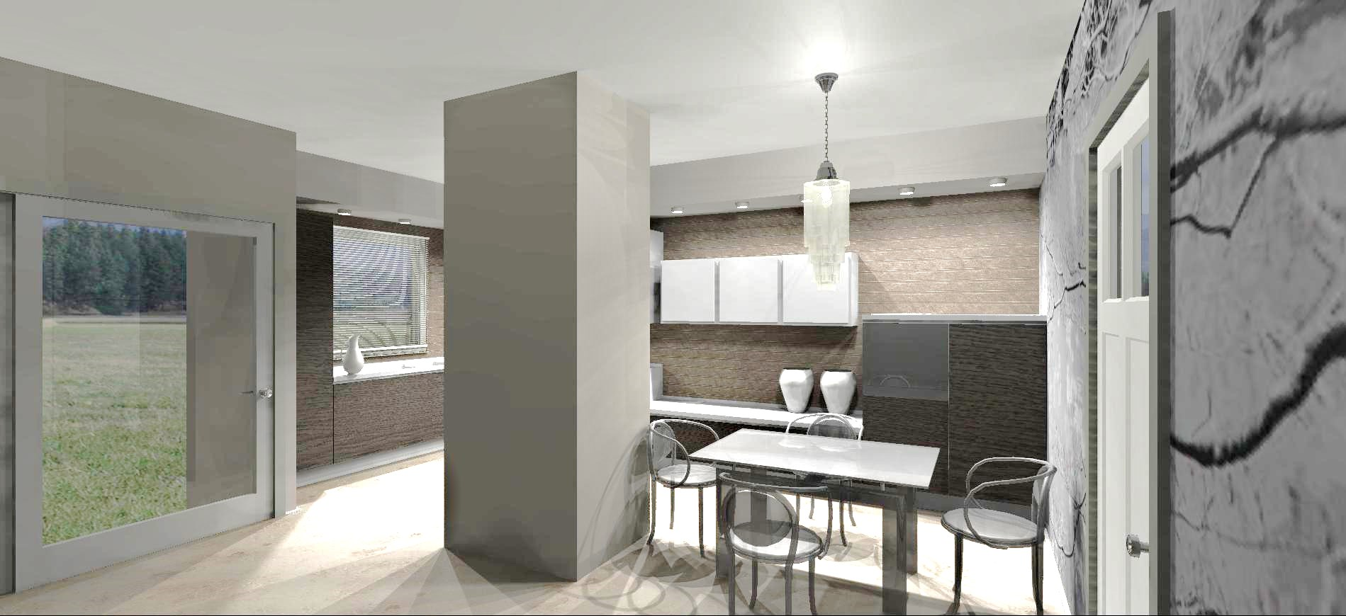 10 idee per abbellire o mascherare un pilastro for Cucina open space con pilastri