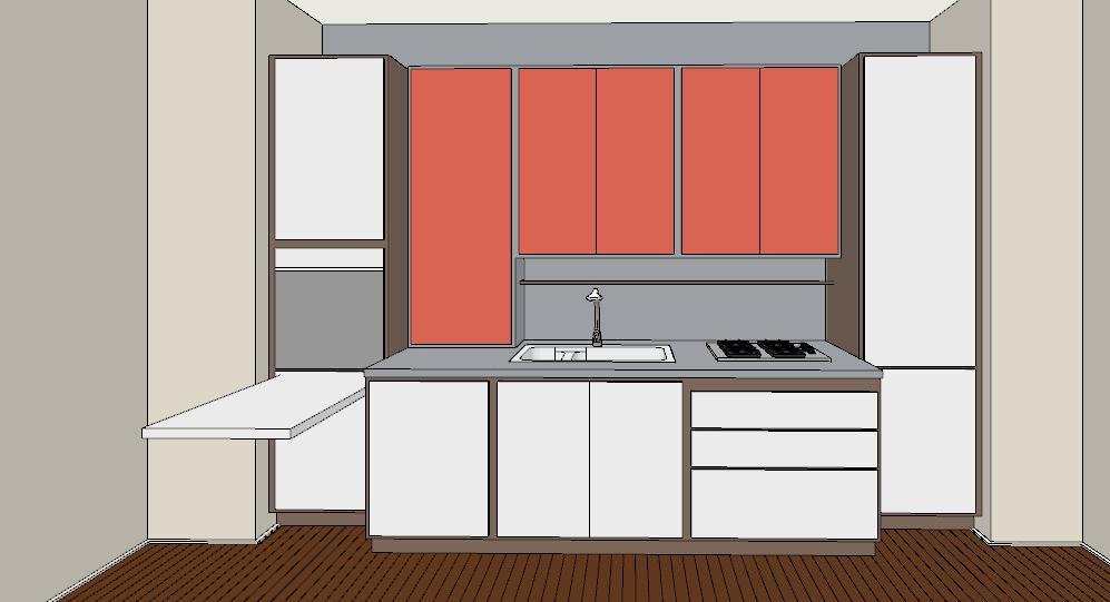 Cassettiera camera da letto bianca for Arredare cucina piccola e stretta