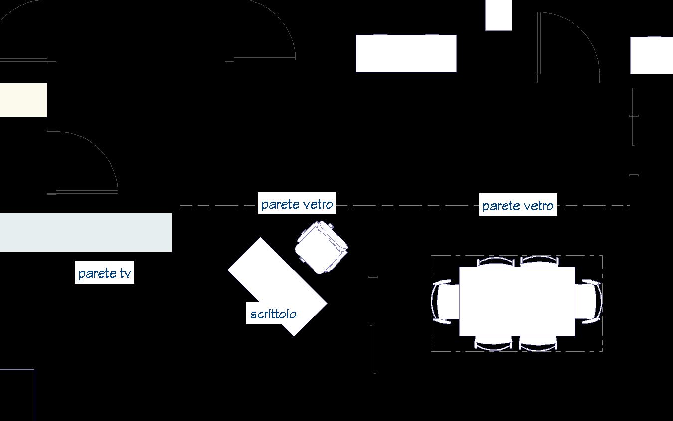 Un lungo corridoio anni 60. Demolire? - Lineatre Arredamenti Alberobello
