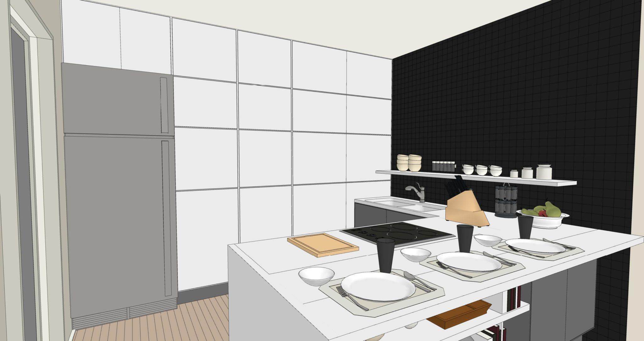 Cucine senza pensili sopra gu63 regardsdefemmes - Cucina senza piastrelle ...