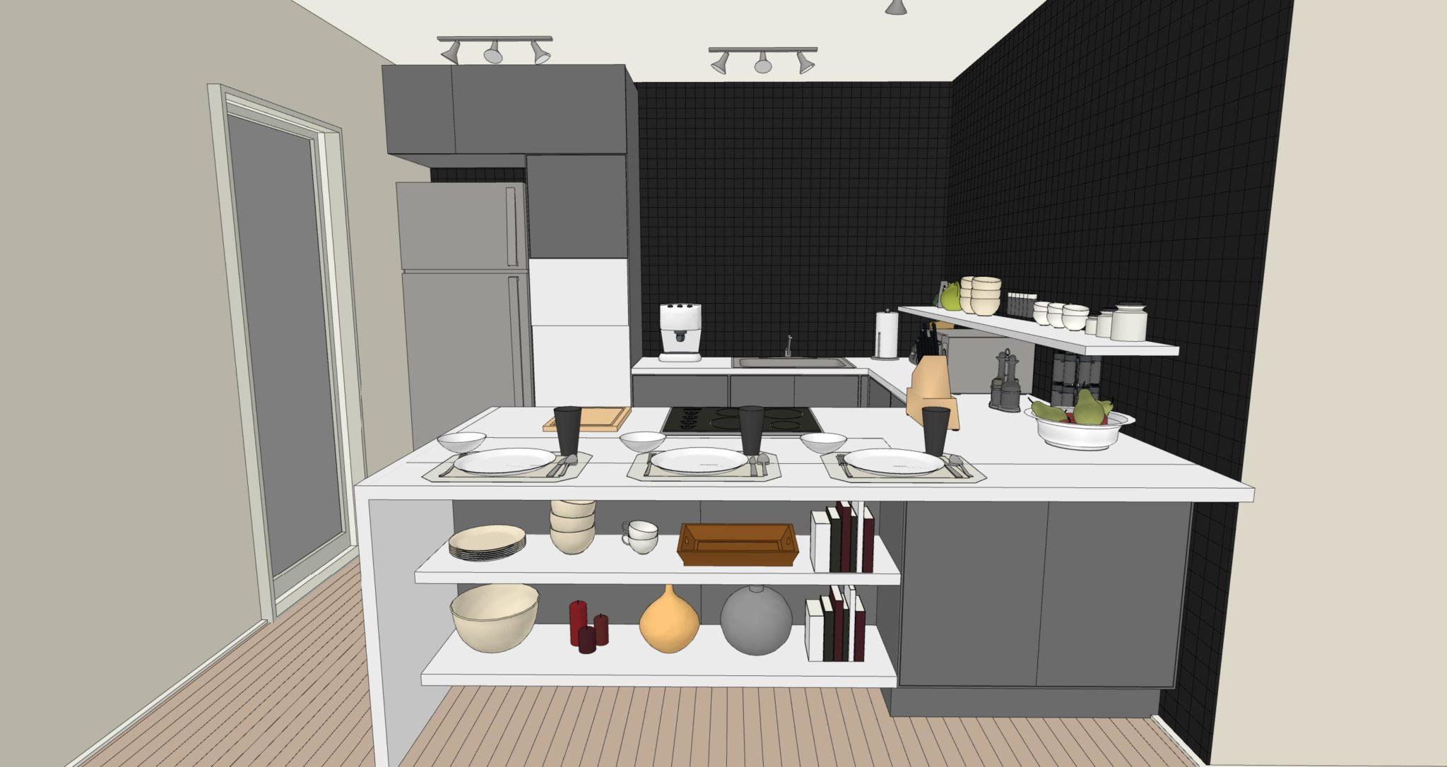 Una cucina senza pensili lineatre arredamenti alberobello - Cucina senza piastrelle ...