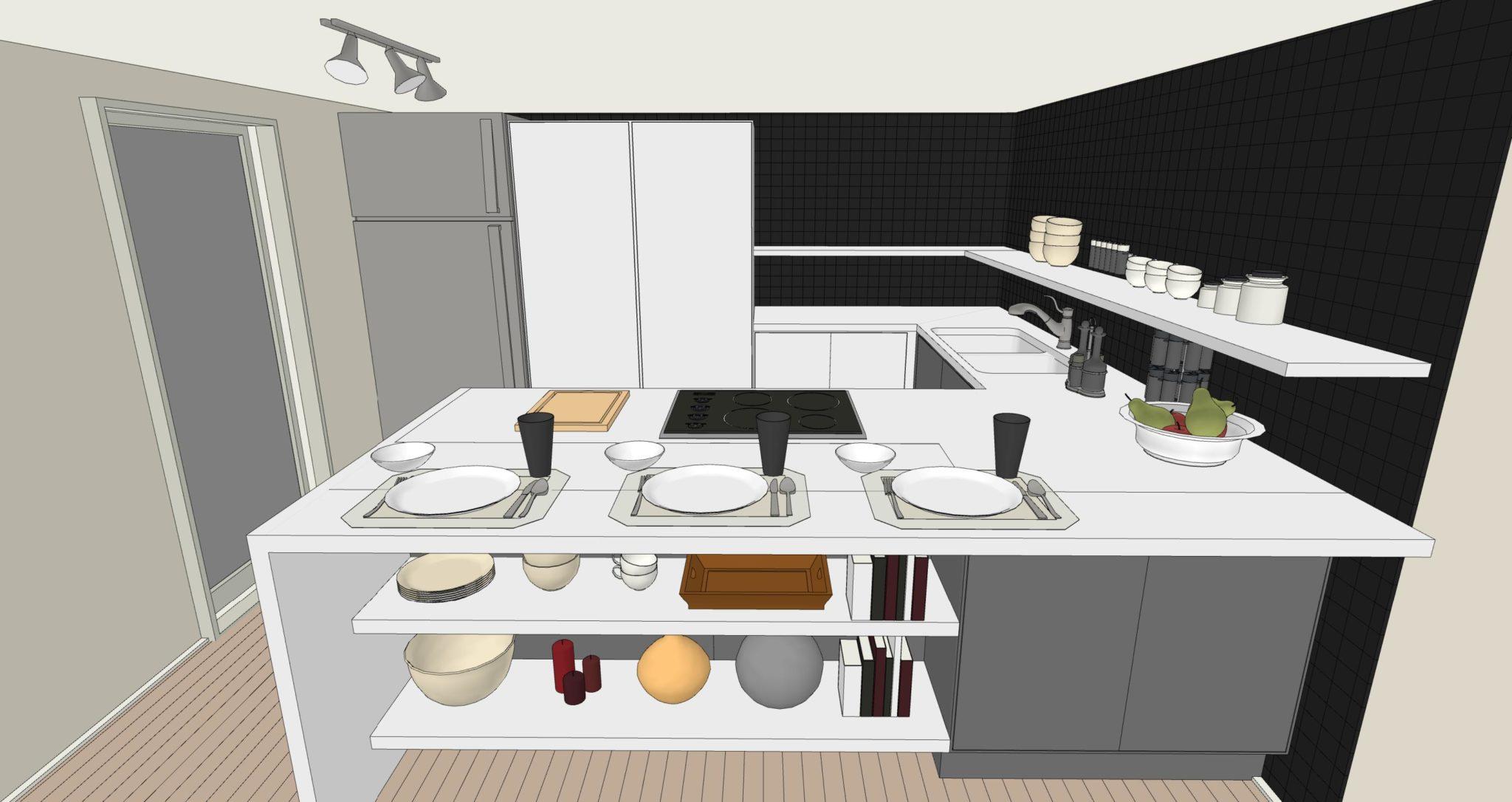 Una cucina senza pensili lineatre arredamenti alberobello - Profondita pensili cucina ...