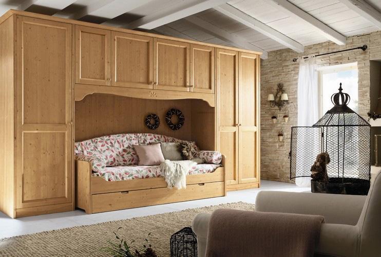 zona-notte-camerette-rustico-country-cameretta-every-day-ponte-con-divano-letto