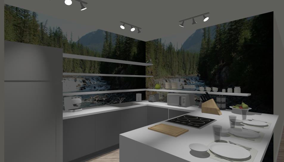 Una cucina senza pensili lineatre kucita gli esperti dell 39 arredamento - Neon sopra pensili cucina ...